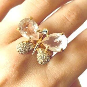 Swarovski Crystal Butterfly Ring